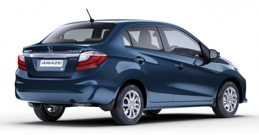 Honda Brio Amaze sedan facelift makes debut in India Image #454916