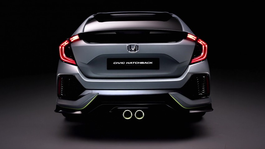 Honda Civic Hatchback Prototype goes live in Geneva; early 2017 launch for Europe, US market to follow Image #451741