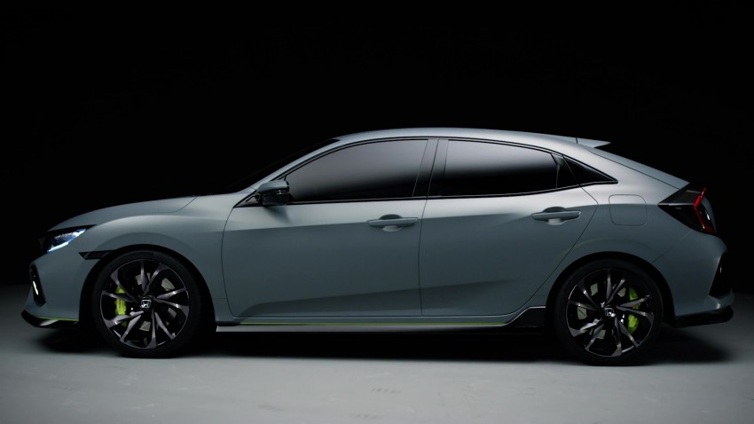 Honda Civic Hatchback Prototype goes live in Geneva; early 2017 launch for Europe, US market to follow Image #451729