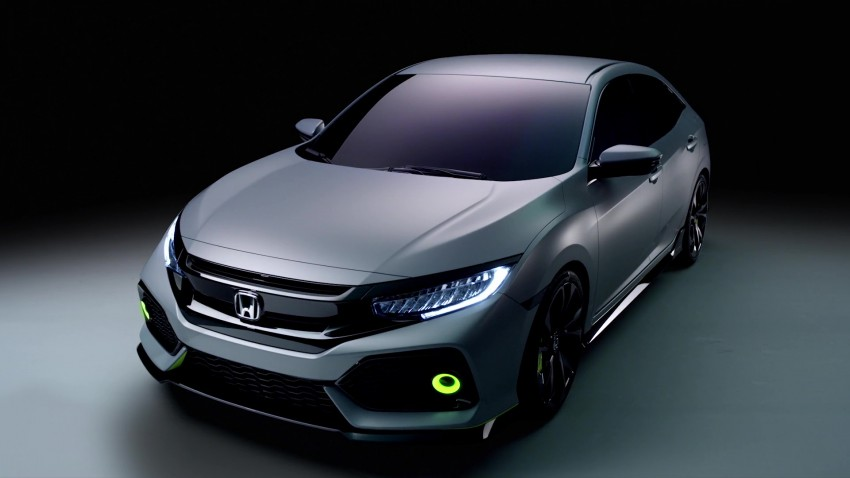 Honda Civic Hatchback Prototype goes live in Geneva; early 2017 launch for Europe, US market to follow Image #451732