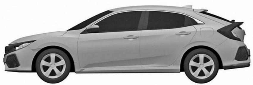 2017 Honda Civic Hatchback patent images revealed Image #461307