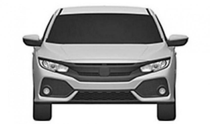 2017 Honda Civic Hatchback patent images revealed Image #461308