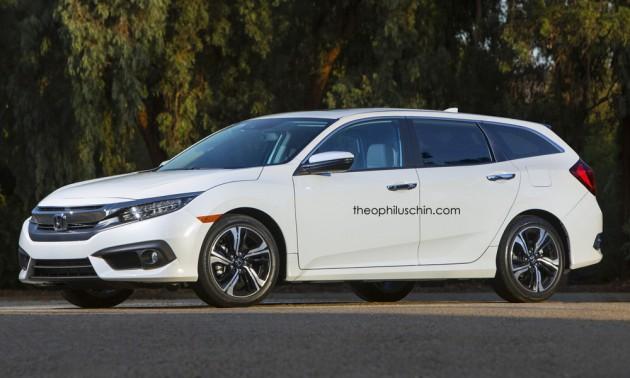 Honda Civic Tourer >> New Honda Civic Rendered As Tenth Gen Tourer Model