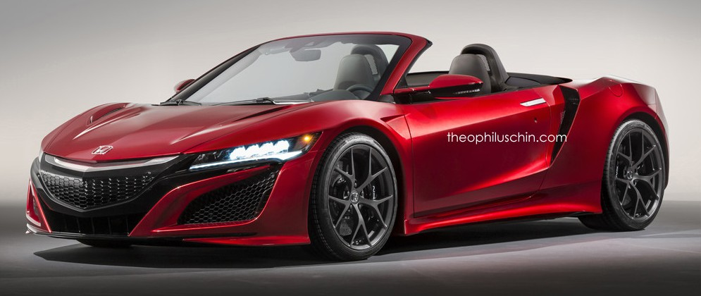 Dreaming >> Honda NSX roadster rendered – open-top dreaming Paul Tan - Image 467729