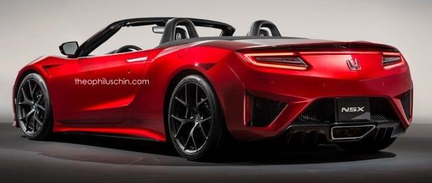 Honda NSX roadster Theo render 2