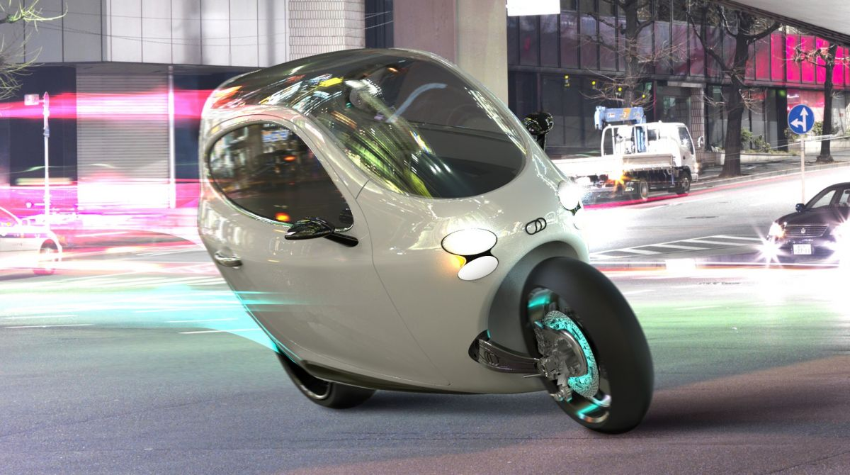Lit Motors C 1 The Future Of Two Wheeled Transport Toyota Shows Iroad A Fullyenclosed Tilting Electric Three