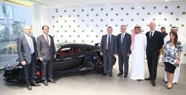 Lotus showroom in Kuwait City opens for business