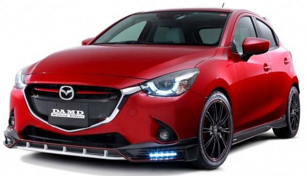Mazda 2 And Cx 3 Fitted With Damd Body Kits In Japan
