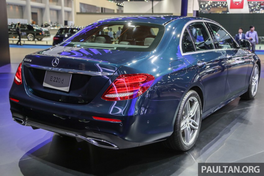 W213 Mercedes E-Class makes ASEAN debut at BKK show – E220d Exclusive, AMG Dynamic for Thailand Image #464543