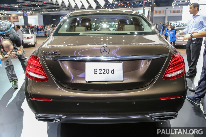 W213 Mercedes E-Class makes ASEAN debut at BKK show – E220d Exclusive, AMG Dynamic for Thailand Image #464592
