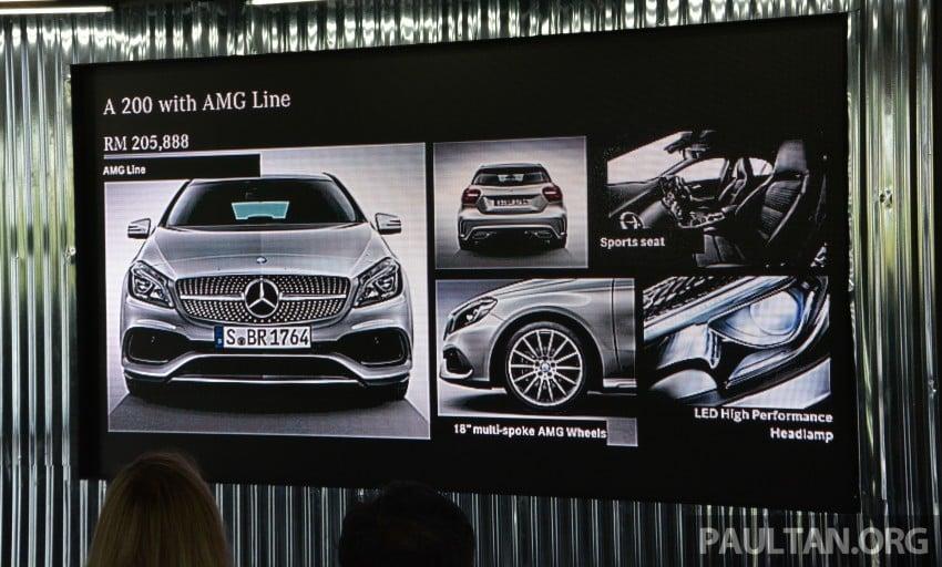 Mercedes-Benz A-Class facelift debuts: A180 Urban Line, A200 AMG Line, A250 Sport; RM196k to RM239k Image #454158