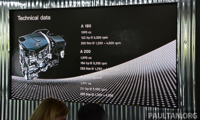 Mercedes-Benz A-Class facelift debuts: A180 Urban Line, A200 AMG Line, A250 Sport; RM196k to RM239k Image #454160