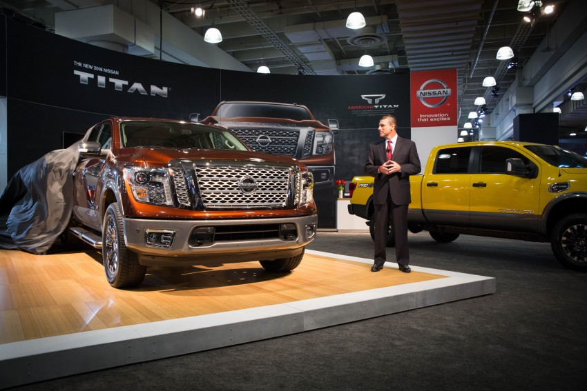 2017 Nissan Titan Crew Cab unveiled at New York; 5.0 litre Endurance V8 now available on larger Titan XD Image #466725