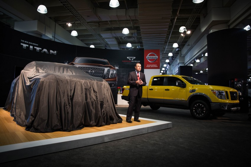 2017 Nissan Titan Crew Cab unveiled at New York; 5.0 litre Endurance V8 now available on larger Titan XD Image #466726