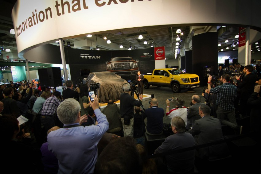 2017 Nissan Titan Crew Cab unveiled at New York; 5.0 litre Endurance V8 now available on larger Titan XD Image #466729