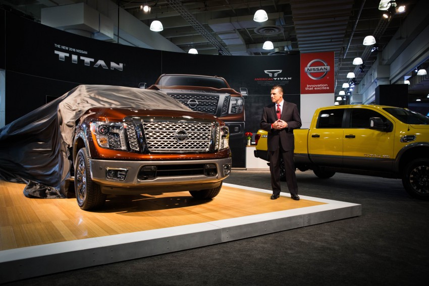 2017 Nissan Titan Crew Cab unveiled at New York; 5.0 litre Endurance V8 now available on larger Titan XD Image #466730
