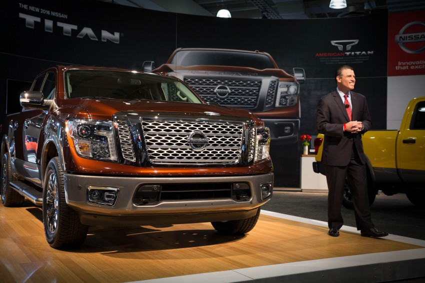 2017 Nissan Titan Crew Cab unveiled at New York; 5.0 litre Endurance V8 now available on larger Titan XD Image #466731