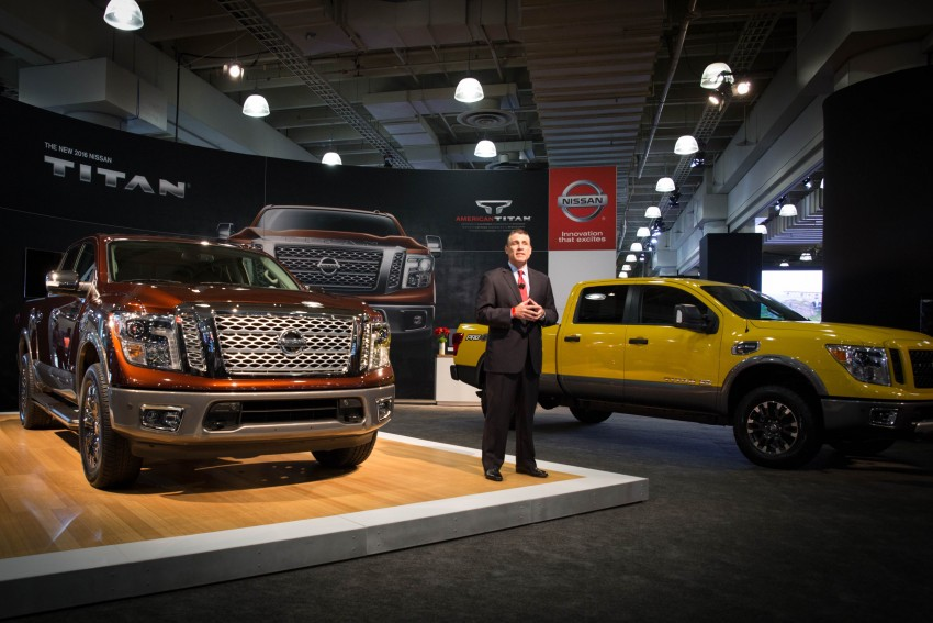 2017 Nissan Titan Crew Cab unveiled at New York; 5.0 litre Endurance V8 now available on larger Titan XD Image #466732