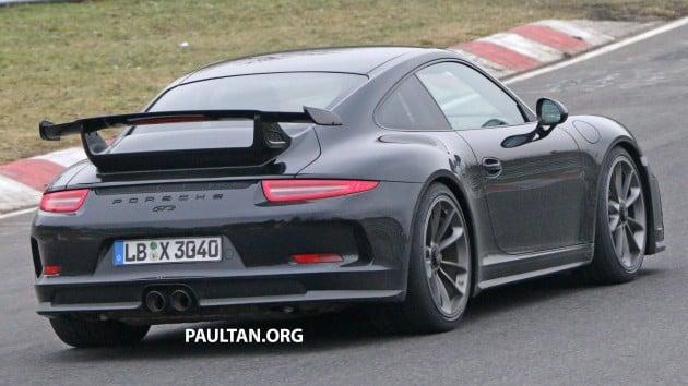 Porsche 911 GT3 facelift spyshot 9
