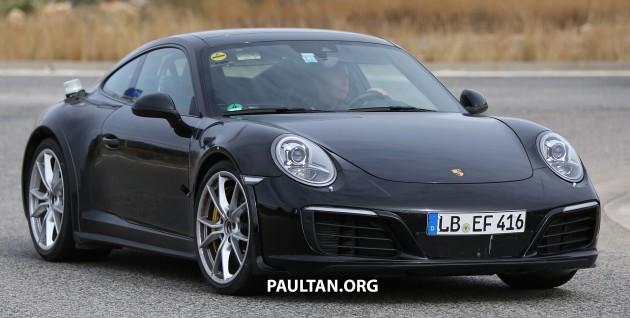 Porsche 911 mule spyshots-3