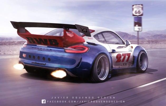 RWB Porsche Cayman GT4