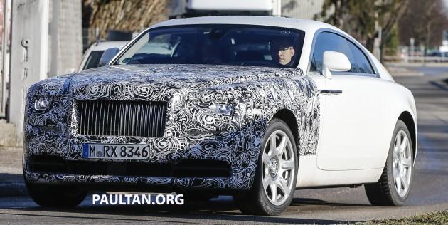 Rolls-Royce Wraith facelift spyshots-2
