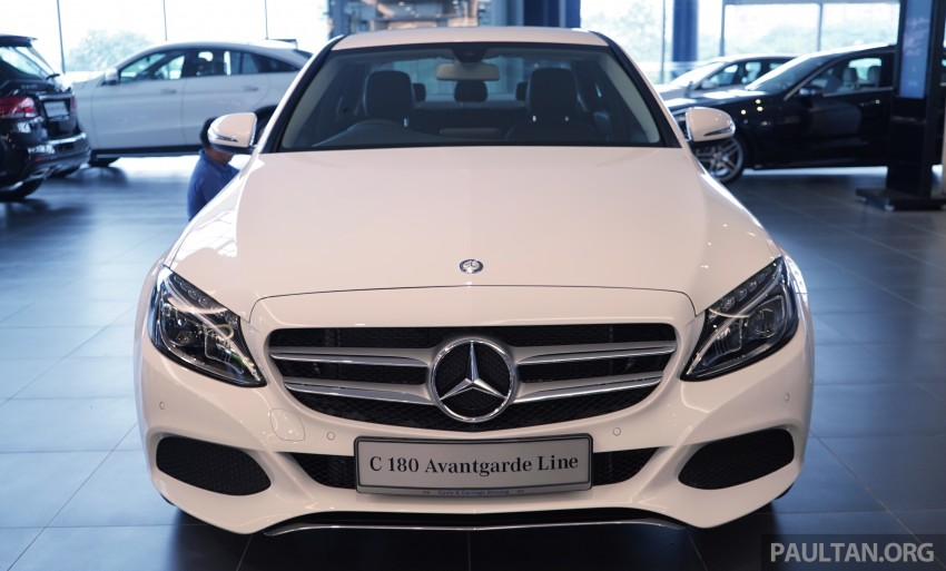 GALLERY: W205 Mercedes-Benz C180 Avantgarde and C300 AMG Line in Malaysian showroom, from RM229k Image #460790