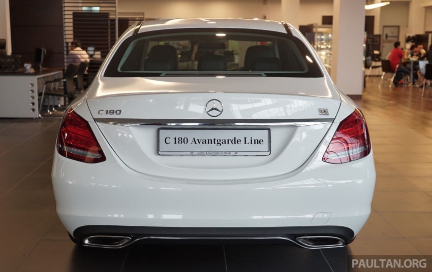 GALLERY: W205 Mercedes-Benz C180 Avantgarde and C300 AMG Line in Malaysian showroom, from RM229k Image #460791