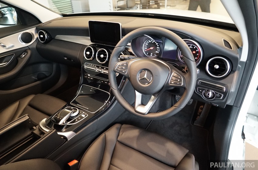 GALLERY: W205 Mercedes-Benz C180 Avantgarde and C300 AMG Line in Malaysian showroom, from RM229k Image #460810