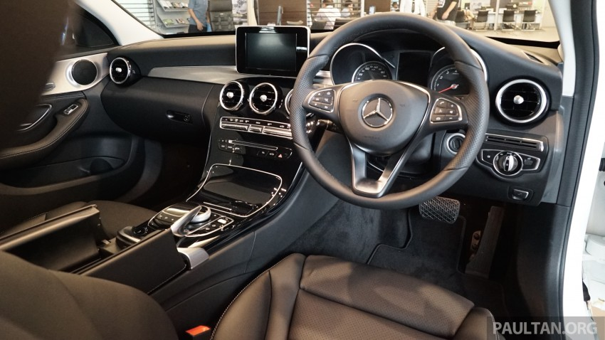 GALLERY: W205 Mercedes-Benz C180 Avantgarde and C300 AMG Line in Malaysian showroom, from RM229k Image #460811