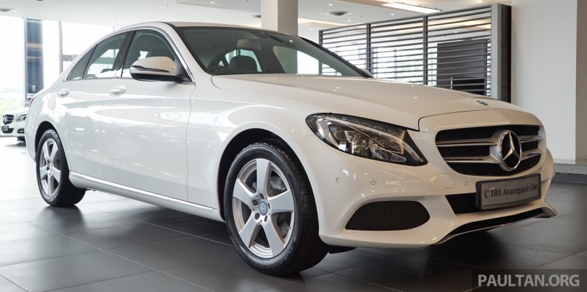 GALLERY: W205 Mercedes-Benz C180 Avantgarde and C300 AMG Line in Malaysian showroom, from RM229k Image #462979