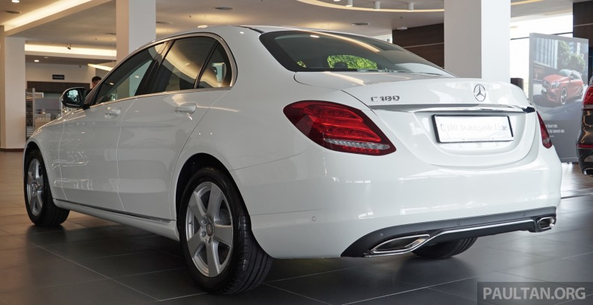 GALLERY: W205 Mercedes-Benz C180 Avantgarde and C300 AMG Line in Malaysian showroom, from RM229k Image #462981
