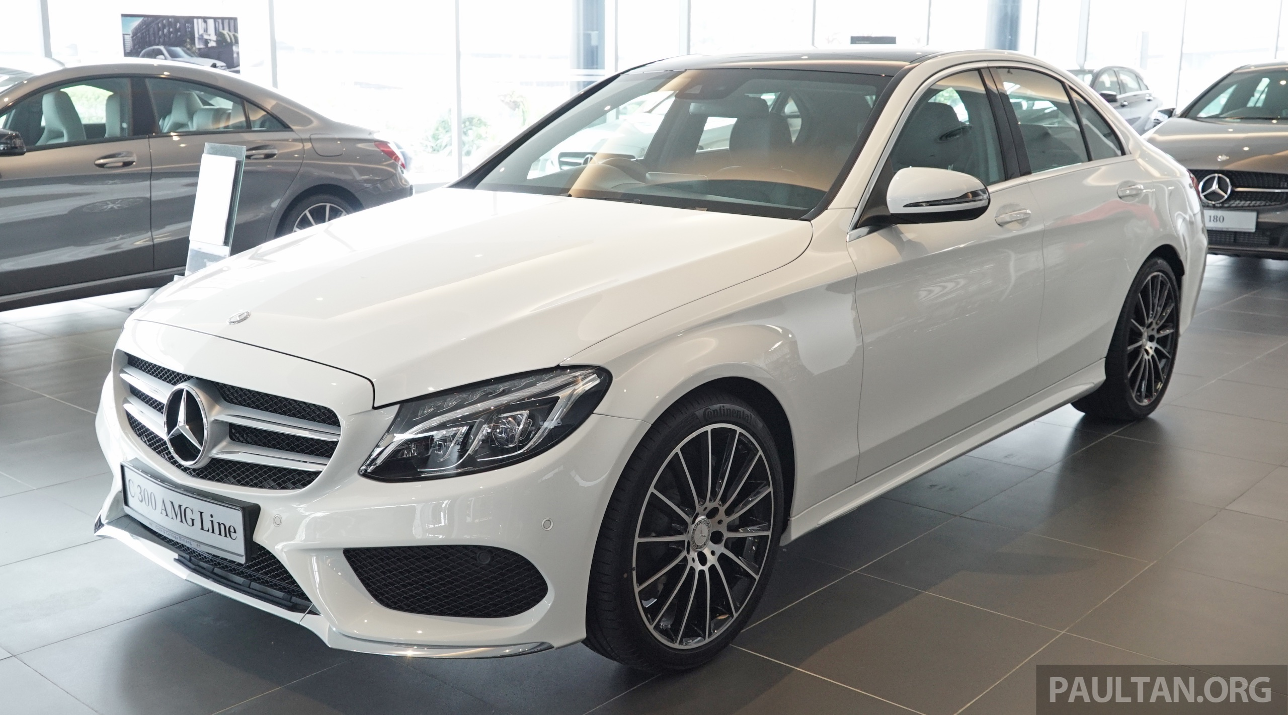 Mercedes Benz Amg >> GALLERY: W205 Mercedes-Benz C180 Avantgarde and C300 AMG Line in Malaysian showroom, from RM229k ...