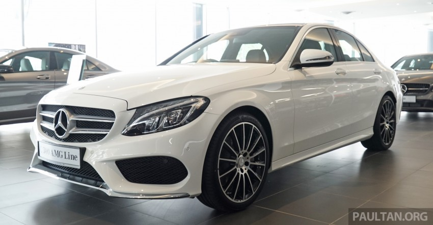 GALLERY: W205 Mercedes-Benz C180 Avantgarde and C300 AMG Line in Malaysian showroom, from RM229k Image #462986