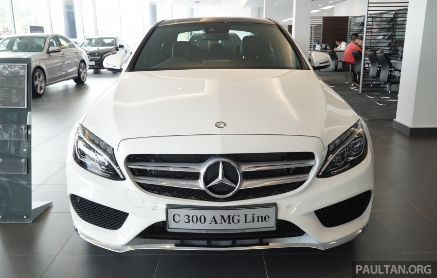 GALLERY: W205 Mercedes-Benz C180 Avantgarde and C300 AMG Line in Malaysian showroom, from RM229k Image #462987