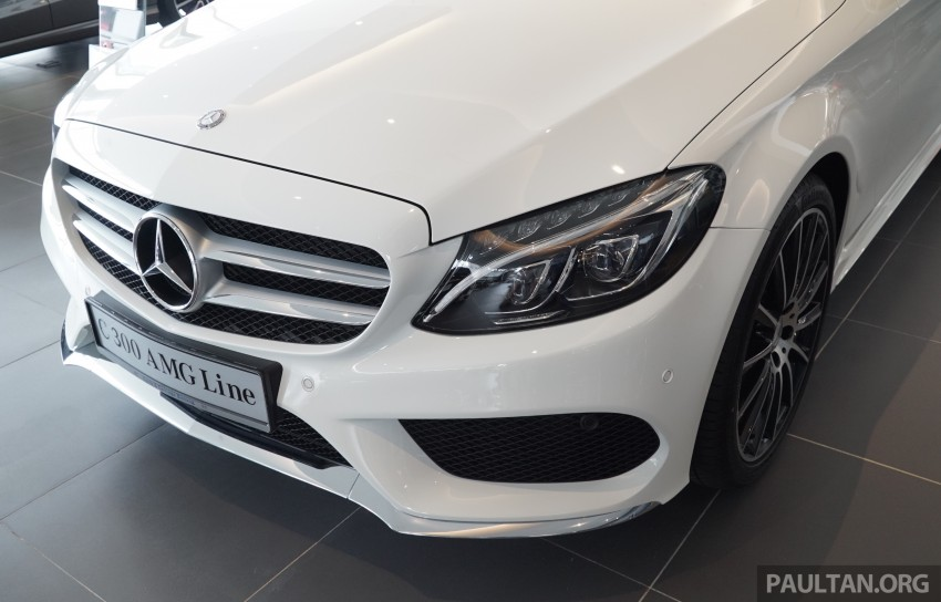 GALLERY: W205 Mercedes-Benz C180 Avantgarde and C300 AMG Line in Malaysian showroom, from RM229k Image #462989