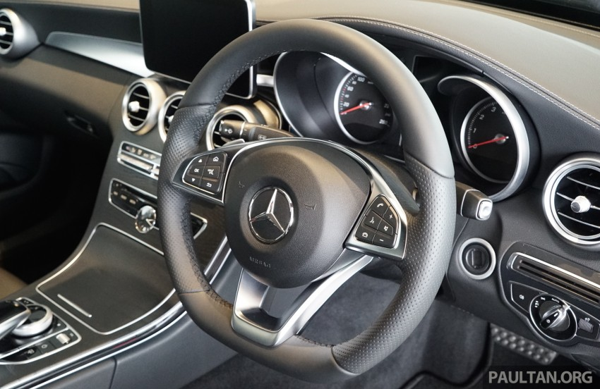 GALLERY: W205 Mercedes-Benz C180 Avantgarde and C300 AMG Line in Malaysian showroom, from RM229k Image #463019