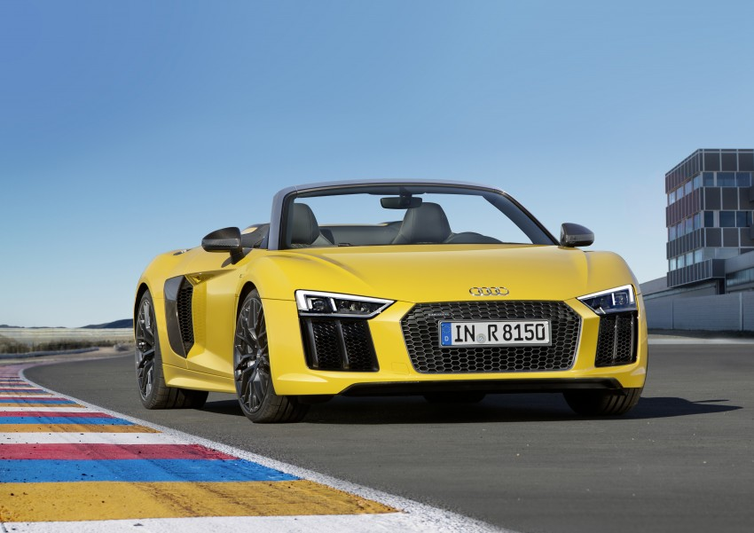Audi R8 Spyder V10 debuts at New York Auto Show Image #465530