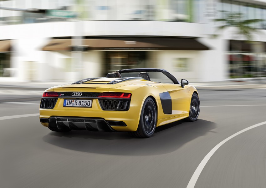 Audi R8 Spyder V10 debuts at New York Auto Show Image #465539