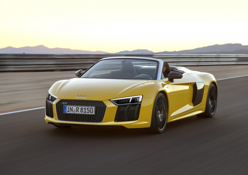 Audi R8 Spyder V10 debuts at New York Auto Show Image #465541
