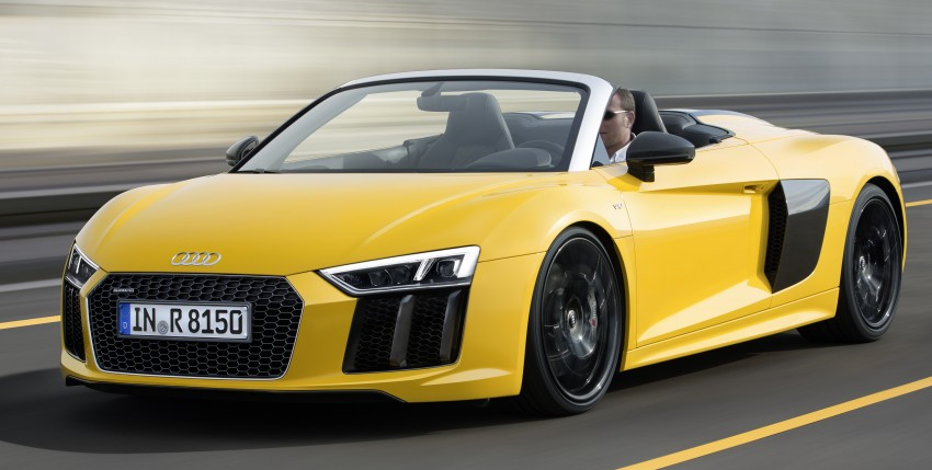 Audi R8 Spyder V10 debuts at New York Auto Show Image #465543