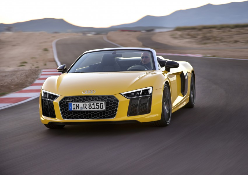 Audi R8 Spyder V10 debuts at New York Auto Show Image #465544