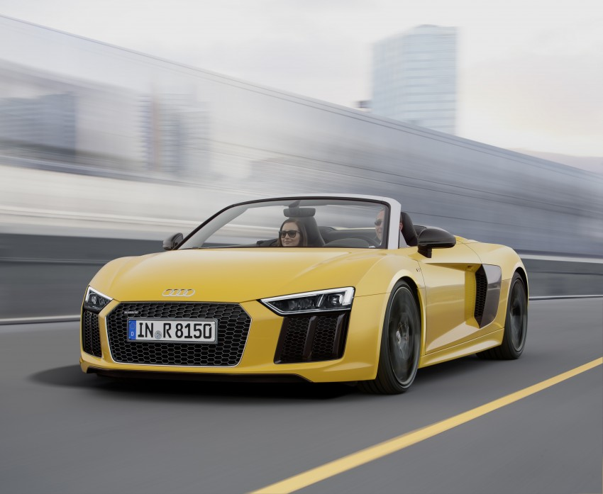 Audi R8 Spyder V10 debuts at New York Auto Show Image #465545