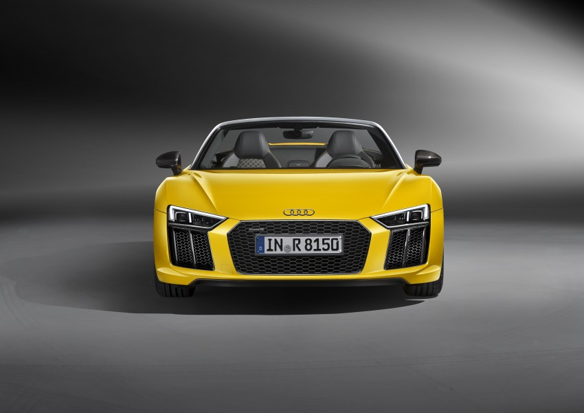 Audi R8 Spyder V10 debuts at New York Auto Show Image #465522