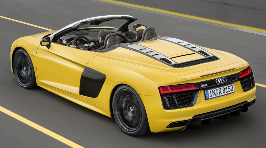 Audi R8 Spyder V10 debuts at New York Auto Show Image #465551