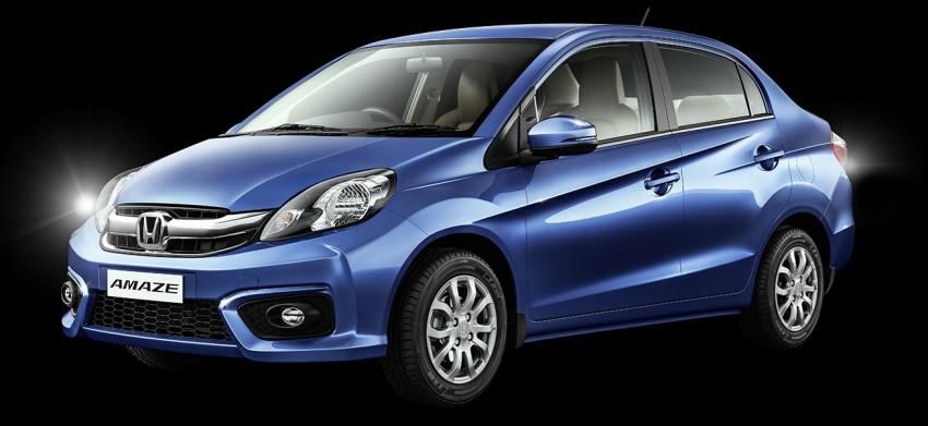 Honda Brio Amaze sedan facelift makes debut in India Image #454903
