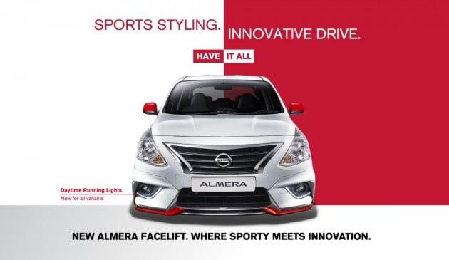 2016 Nissan Almera facelift DRL 16