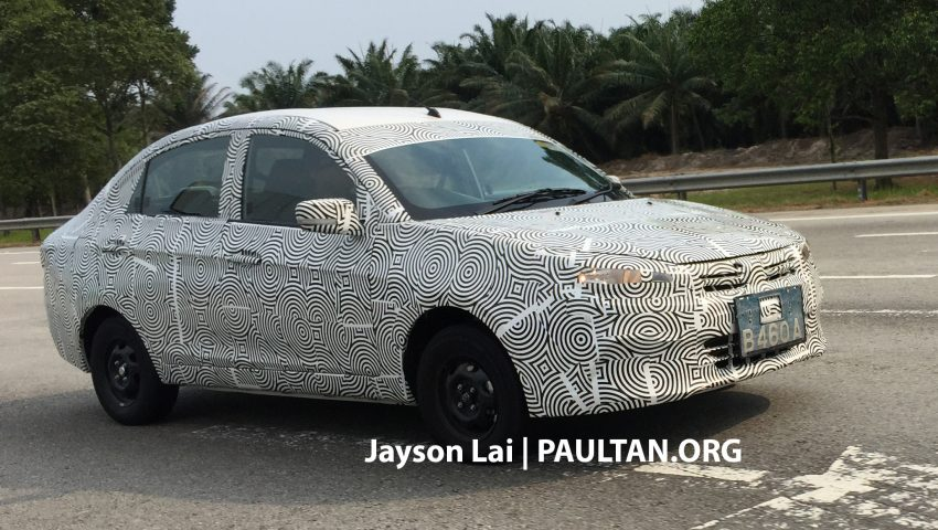 SPIED: 2016 Proton Saga spotted testing yet again Image #484619