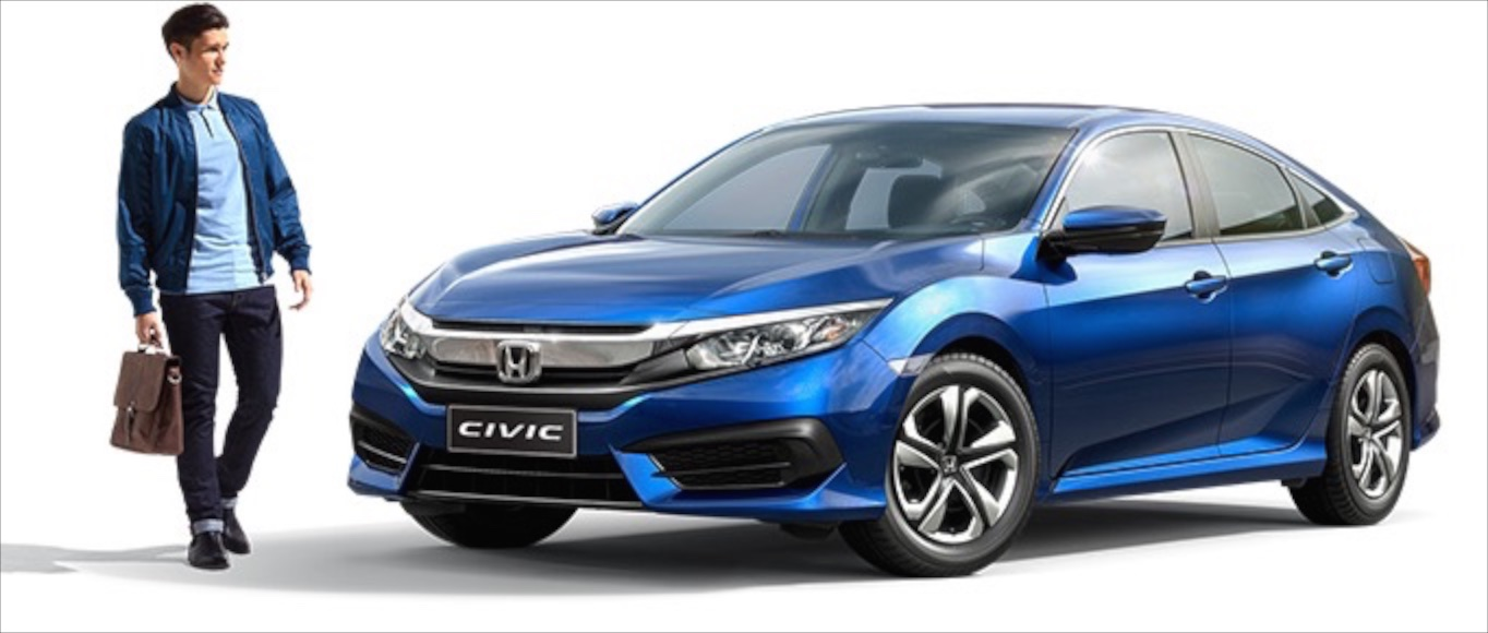 2016 honda civic 1 5l turbo and 1 8l na open for booking for Honda civic 2016 dimensions