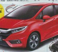 2019 Honda Jazz facelift Japan magazine render - feat